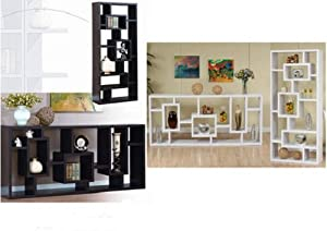 ... Room Divider Espresso or White- Stylish Display Shelf for Collectibles