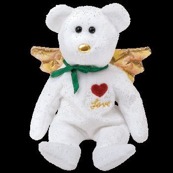 TY Beanie Baby - GIFT the Bear (White Version) (Hallmark Gold Crown Exclusive) - 1
