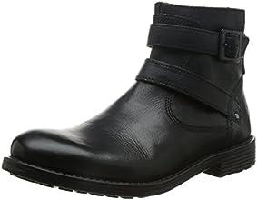 [クラークス] CLARKS フォークナートップ 26109694 Black Leather(ブラックレザー/090)