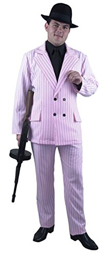 Men's Pink Gangster Suit Costume (Size: Small 36-38)