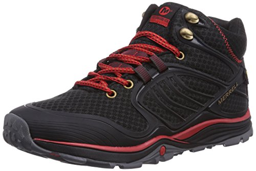 Merrell - Verterra Mid Sport Gtx, Scarpe Da Escursionismo da uomo, nero (schwarz  (black/red)), 43.5