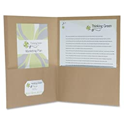 Pendaflex Oxford 100% Recycled Paper Twin Pocket Folders - Letter - 8.50quot; Width x 11quot; Length Sheet Size - 100 Sheet Capacity - 2 Pockets - Fiber - Natural - 25 / Box