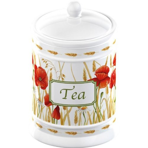 Field Poppies Ceramic Tea Storage Jar
