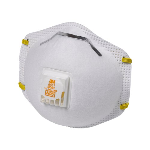 3M 8511 Particulate N95 Respirator with Valve, 10-Pack picture