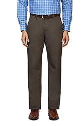 Peter England Comfort Fit Trouser _PTF31602138_36_Olive