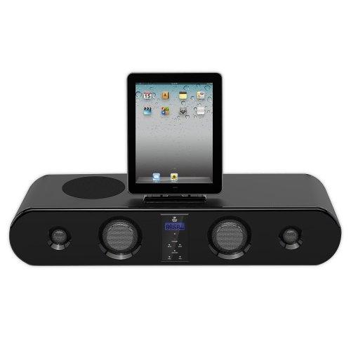 Pyle Home PSBM60I iPad/iPod/iPhone Sound Bar System With FM Radio, Wireless Remote, 300 Watts