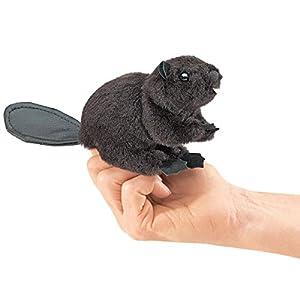 Folkmanis Mini Beaver Finger Puppet by Folkmanis