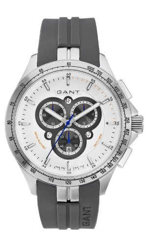 Gant Watches - Reloj analógico de cuarzo para hombre con correa de caucho, color gris