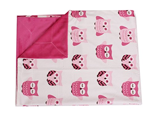 Thro by Marlo Lorenz Orly Owl Micro Plush Baby Blanket, 30 by 40-Inch, Pink - 1