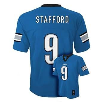 Matthew Stafford Detroit Lions Light Blue NFL Youth 2013 Season Mid-tier Jersey (X-large 18/20)