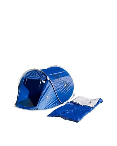 Columbus Pack Tenda Campeggio + Sacco a Pelo Double Pop Up Boy [Blu]