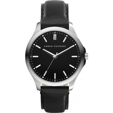 Emporio Armani AX2149 - Reloj con correa de piel para hombre, color negro