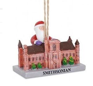 Santa Visiting Smithsonian Washington DC Landmark Christmas Holiday Ornament