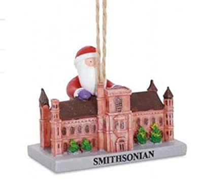 Santa Visiting Smithsonian Washington DC Landmark Christmas Holiday Ornament