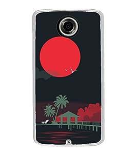 Night 2D Hard Polycarbonate Designer Back Case Cover for Motorola Nexus 6 :: Motorola Nexus X :: Motorola Moto X Pro :: Motorola Google Nexus 6