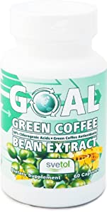 Goal Green Coffee Bean Extract With Svetol 800mg Ultra Pure Gca Antioxidants 50 Chlorogenic Acids - Best Diet Pills - Weight Loss Fat Burners For Men And Women - 60 Capsules from GOAL Corp