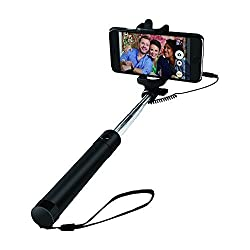BEBONCOOL Wired Selfie Stick for iPhone SE/6S/6S Plus/6/6 Plus/5S/, Android phone GalaxyS7/ Galaxy S7 Edge/ Nexus 6p/ LG G5