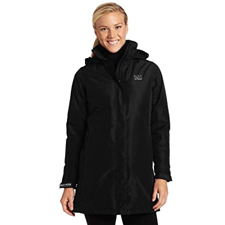 FEATURES of the Helly Hansen Women's Insulated Long Aden Jacket Helly Tech Protection Waterproof, windproof and breathable DWR treatment Fully seam sealed 2-layer construction Fully insulated Warm Core by Prim aloft 3/4 length Regular feminine fit Ex...