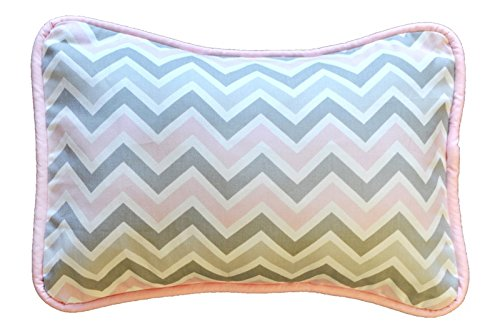 New Arrivals Peace Accent Pillow, Pink/Gray