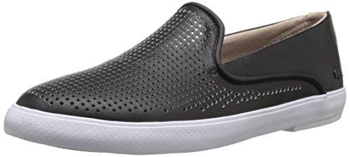 Lacoste Women's Cherre 216 1 Flat, Black/Natural, 6.5 M US
