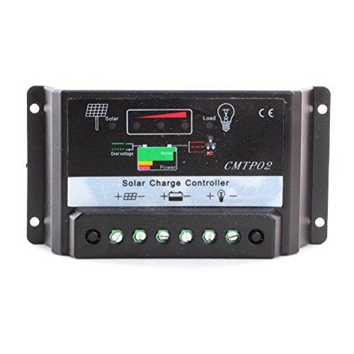 Pixnor CMTP02-30 a, 30 a 12V 24V PWM panneau solaire batterie régulateur régulateur de Charge solaire (noir)