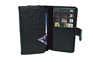 TOTTA PU Leather Wallet Pouch with Card Holder Rio Mobile (Black)