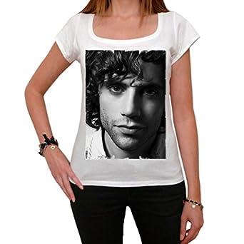 Mika T-shirt Femme imprimé célébrité - Blanc, XS