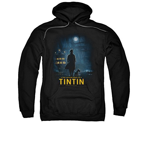 The Adventures Of Tintin Comic Character Title Poster Adult Pull-Over Hoodie