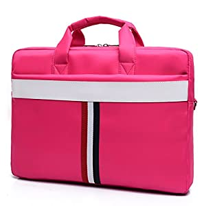 ZYSTERT 14 -15.6 Inch Laptop Bag Shoulder Bag With Strap Multi-Compartment Messenger Hand Bag Briefcase for Laptop / iPad Pro / Tablet / Macbook / Ultrabook / Men / Women (14 Inches, Rose (02)) from ZYSTERT