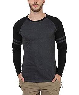 SAYITLOUD Solid Men Round Neck Tshirt(33SOLIDBLACKMELANGEBLACK-XXL_XX-Large)