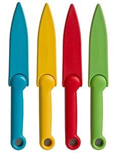 Prepworks from Progressive International GT-3626 Food Safety Paring Knives, Set of 4