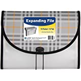 C-Line 13-Pocket Expanding File, Includes Tabs, Letter Size, 1 Expanding File, Plaid Design (58312)