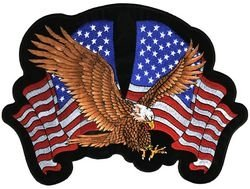 Eagle Double Flag Small Back Patch