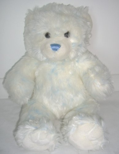 Build-A-Bear Workshop Blue and White Tie Dye Teddy Bear Plush Stuffed Animal - 1