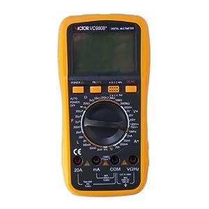 VC9808+ LCD 3 1/2 Multimètre numérique LCR Compteur de capacité 3 1/2 DCV/ACV/DCA/ACA Résistance