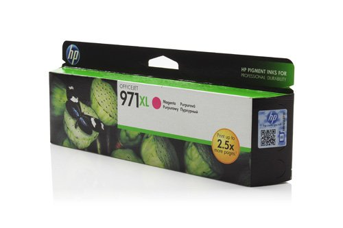 971 Encre hP d'encre d'origine avec 1 cartouche magenta 6600 pages-compatible officeJet pro x 470 series