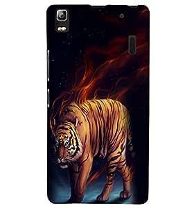 Printvisa Premium Back Cover Tiger Tiger Burning Bright Design For Lenovo A7000::Lenovo K3 Note