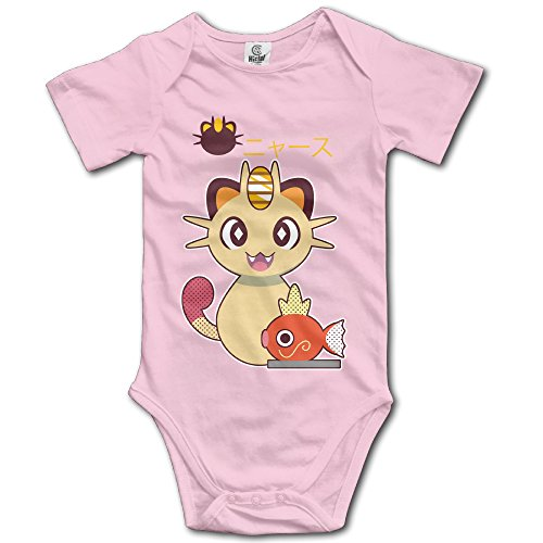 [Jirushi Infants &Toddlers Baby's Cute Meowth Magikarp Pink T Shirts For 6-24 Months] (Bike Lane Costume)