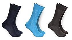 Balenzia Men's Mercerized Socks (Pack Of 3) (Jagmini59_Multi)