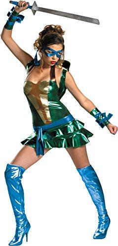 [Morris Costumes Sassy Leonardo Tmnt 8-10] (Ninja Turtle Halloween Costume Homemade)