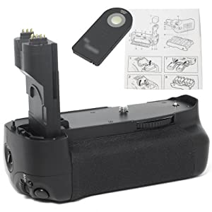 Battery Hand Grip + IR Remote + Battery Holder for CANON EOS 7D SLR Camera LF96