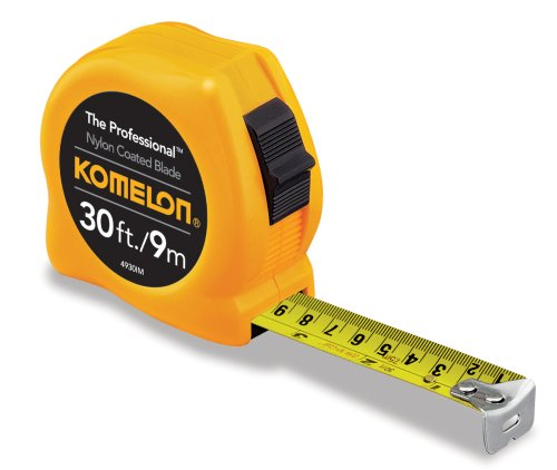Komelon 4930IM The Professional 30-Foot Inch/Metric Scale Power Tape, Yellow