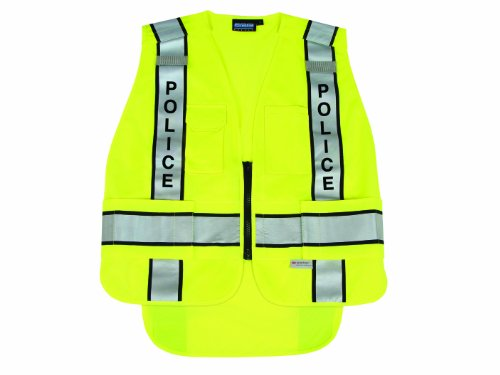 Erb 61304 S368 5 Point Break Away Ansi 207 Public Safety Vest, Lime, 5X-Large/6X-Large