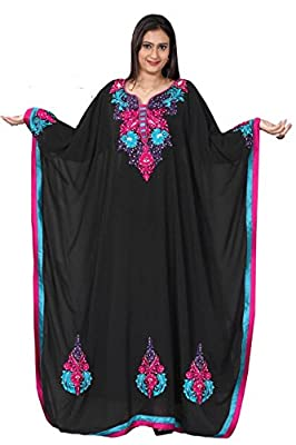 Trendy butterfly style Farasha kaftan with Embroidery Multi Color Collection!