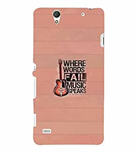 PrintVisa Quotes & Messages Music 3D Hard Polycarbonate Designer Back Case Cover for Sony Xperia C4 Dual