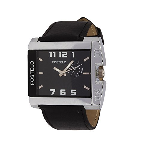 Fostelo Black Analog Men's Wrist Watch Fst-65