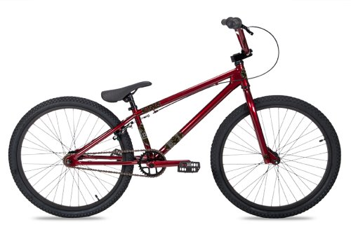 Dk Cygnus Bmx Bike With Black Rims (Red, 24-Inch)