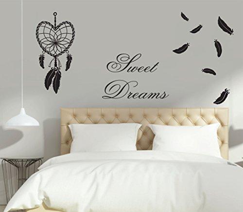 greenluup wandtattoo spruch zitat sweet dreams. Black Bedroom Furniture Sets. Home Design Ideas