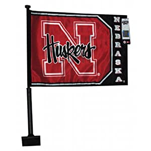 NCAA Nebraska Cornhuskers Car Flag