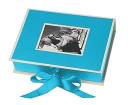 Pierre Belvedere Semikolon Small Photo Box, Ribbon Tie Closure, Turquoise (31519)